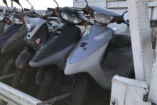写真:浜松市東区上西町 放置バイク撤去回収