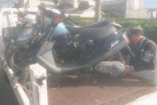 写真:放置バイク撤去回収 浜松市中区浅田町にて
