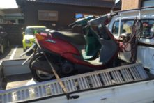 写真:浜松市西区篠原 バイク回収 ジョグ(SA16)