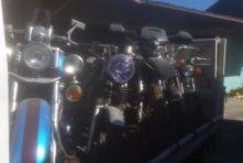 写真:浜松市西区雄踏町 バイク回収 5台まとめて