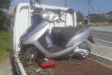 写真:湖西市ときわ バイク廃車 原付ディオ(AF68)