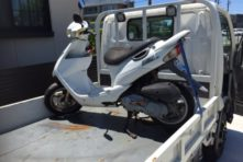 写真:浜松市中区和地山 バイク回収 ZZ