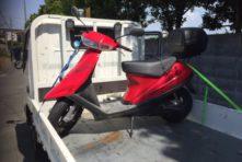 写真:浜松市中区佐鳴台 バイク処分 アドレスV100