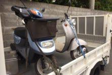 写真:浜松市南区東若林 バイク廃車 原付ビーノ(5AU)