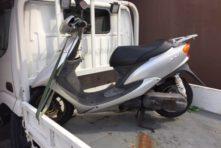 写真:浜松市中区住吉 バイク処分 ジョグ 無料回収