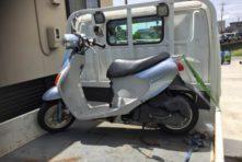 写真:浜松市東区小池町 バイク廃車 原付レッツ4 鍵紛失
