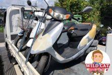 写真:浜松市南区瓜内でバイク回収 帰り道東区で原付引き取り
