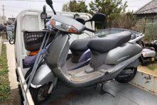 写真:浜松市西区篠原町 バイク廃車 原付2種リード100過走行