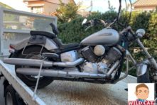 写真:浜松市西区篠原町 バイク引き取り ドラックスター1100 長期放置 錆腐食