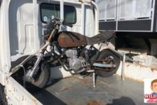 写真:浜松市中区高丘北 バイク回収 エイプ??ボロボロ