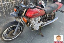 写真:浜松市中区龍禅寺 バイク引き取り CB750FB&ライブディオZX 長期放置