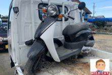 写真:浜北区 天竜川公園付近で バイク引き取り 原付today(AF67)