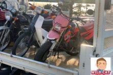 写真:浜松市南区青屋 バイク買取 KAWASAKI KSR2 外装色褪せ