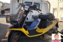 写真:浜松市南区新橋 バイク回収 昭和の原付2台
