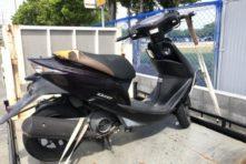 写真:浜松市東区天王町 バイク引き取り 原付ディオ ボロボロ不動車