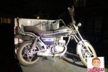 写真:浜北区美園 バイク回収 GN50 旧車?鍵なし不動車