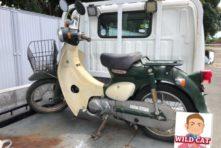 写真:浜松市西区湖東町 バイク回収 原付リトルカブ 不動車 錆