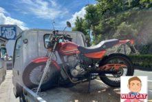 浜松市東区有玉台 バイク買取 HONDA FTR 長期放置 出張買取