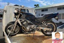 写真:浜松市中区細島 バイク廃車処分 KAWASAKIバリオス エンジン駄目